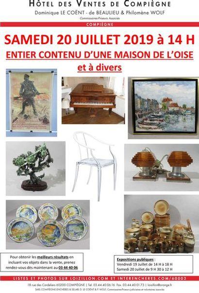 ENTIER CONTENU D'UNE MAISON DE L'OISE et COLLECTIONS PARTICULIERES
