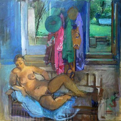 VENTE FONDS D'ATELIER JEAN LANGLOIS (1923-2014) - 266 oeuvres de grand format (acryliques sur panneau, huiles sur toile et sur carton)