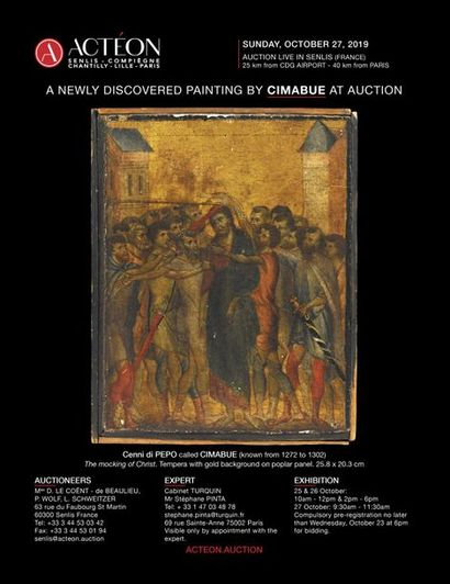 A NEWLY DISCOVERED PAINTING BY CIMABUE AT AUCTION