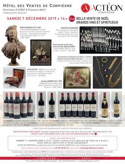 BELLE VENTE DE NOËL - Grands vins et spiritueux, bijoux, objets d'art et d'ameublement, jouets anciens