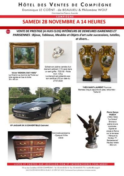 PRESTIGE SALE ONLY LIVE, BY PHONE AND ON ORDER: Private collections from the Isle of Man and Paris