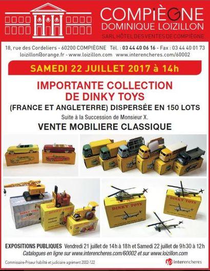 DINKY TOYS (Succession Monsieur X) - VENTE MOBILIÈRE CLASSIQUE