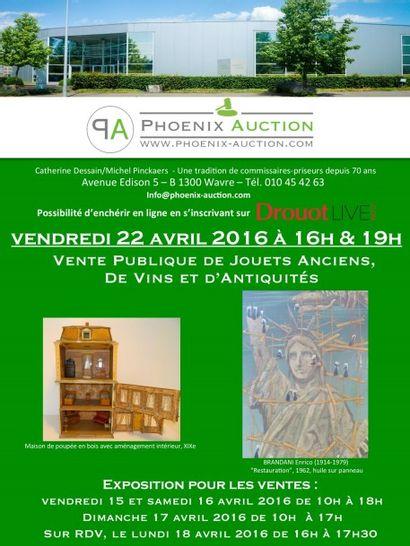 VENTES PUBLIQUES DE JOUETS ANCIENS A 16H. & D'ANTIQUITES A 19H.