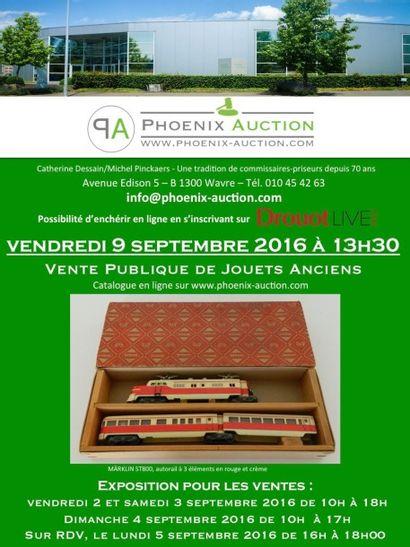 VENTE PUBLIQUE  DE JOUETS ANCIENS