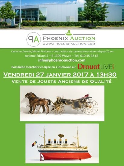 VENTE PUBLIQUE  DE JOUETS ANCIENS Á 13H30