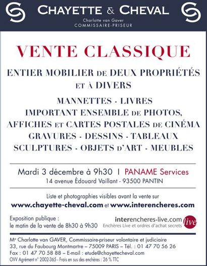 CLASSIC SALE: JEWEL MANNETTES - JEWEL TABLES - FURNITURE AND ART OBJECTS