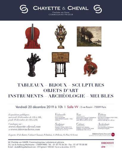 TABLEAUX - BIJOUX - SCULPTURES - OBJETS D'ART - INSTRUMENTS - ARCHÉOLOGIE - MEUBLES