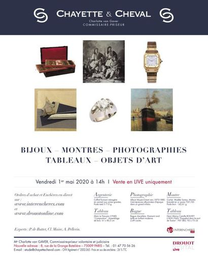 [LIVE ONLINE ONLY] - JEWELLERY - WATCHES - PHOTOGRAPHS - PAINTINGS - ART OBJECTS