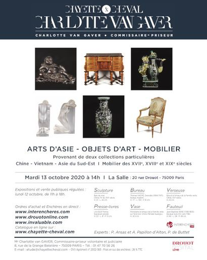 ARTS OF ASIA AND ART OBJECTS - FURNITURE FROM THE XVIIth-XVIIIth and XIXth centuries from two private collections