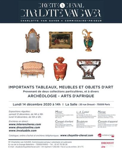 IMPORTANT PAINTINGS, FURNITURE AND OBJETS D'ART -ARCHAEOLOGY AND ART OF AFRICA