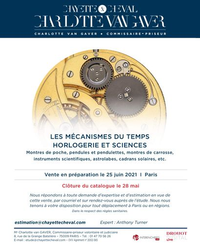 LES MECANISMES DU TEMPS: HORLOGERIE ET SCIENCES - EN PREPARATION