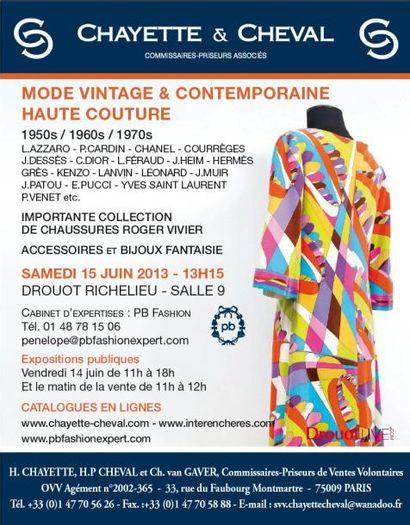 MODE VINTAGE & CONTEMPORAINE- ANNEES 1950/60 et 70'