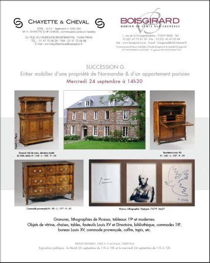 Entier mobilier d'une propriété de Normandie & d'un appartement parisien