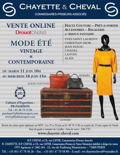 Mode été vintage et contemporaine<br>Vente drouotonline
