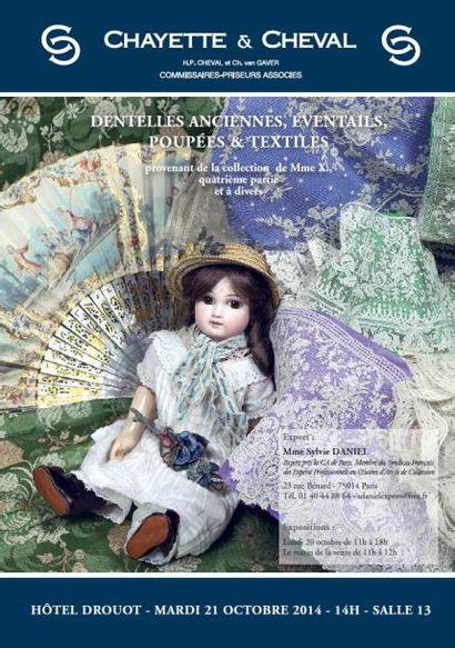 DENTELLES ANCIENNES - EVENTAILS- POUPEES ET TEXTILES- Collection de Mme X. (4ème partie) et à divers