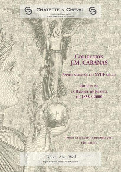 PAPIER-MONNAIE: COLLECTION J.M. CABANAS.