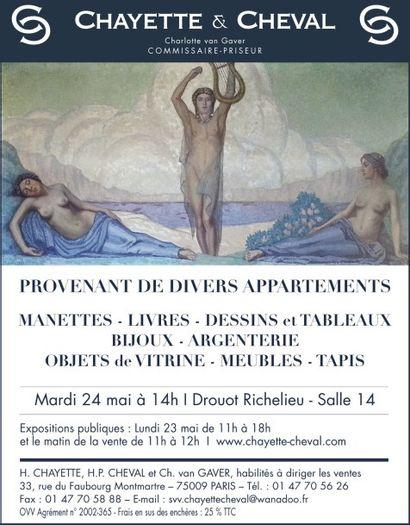 BIJOUX/TABLEAUX/MEUBLES & OBJETS D'ART