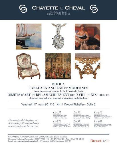 Bijoux - Tableaux anciens et modernes - Objets d'art et bel ameublement des XVIIIe et XIXe siècles