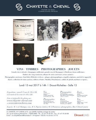 VENTE VINS - TIMBRES - PHOTOGRAPHIES - JOUETS