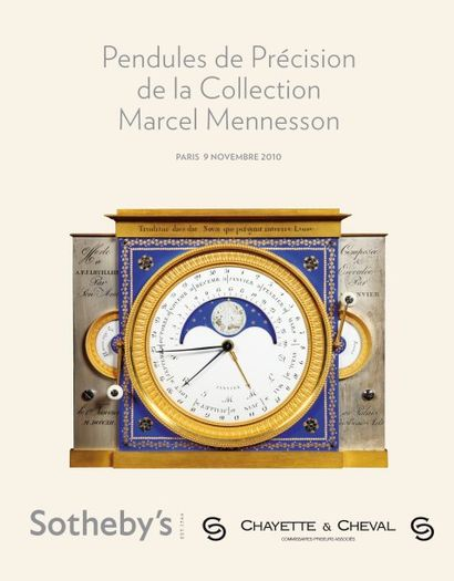 <b>PENDULES DE PRECISION DE LA COLLECTION MARCEL MENNESSON</b>