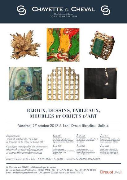 Bijoux, dessins et tableaux et objets d'art