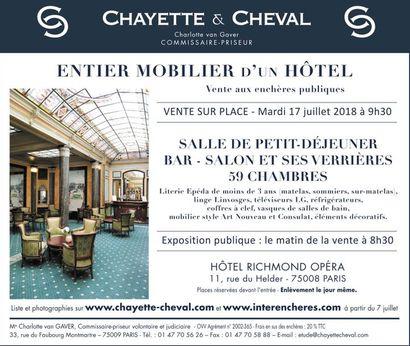 ENTIER MOBILIER D'UN HOTEL PARISIEN