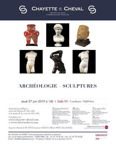 ARCHEOLOGIE - NUMISMATIQUE - SCULPTURES