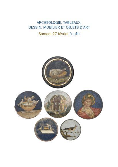 ARCHEOLOGIE TABLEAU MOBILIER OBJETS D'ART, Collection de Madame T