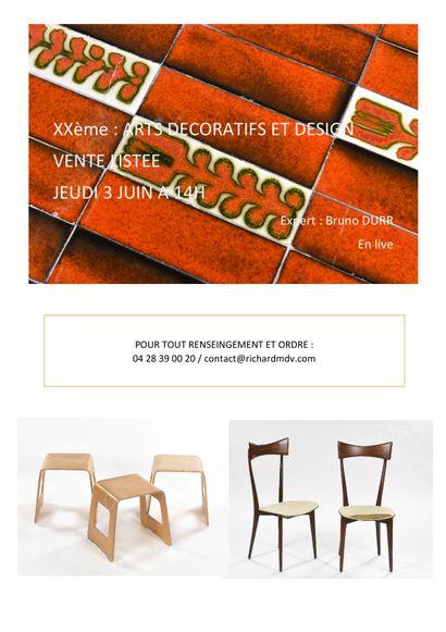 XXe vente listée Arts decoratifs et design