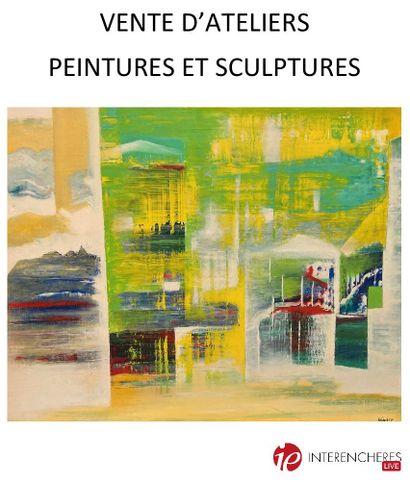 Vente d'ateliers : peintures et sculptures