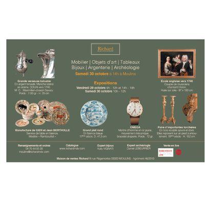Bijoux - Tableaux - Mobilier - Objets d'art - Archéologie - Argenterie
