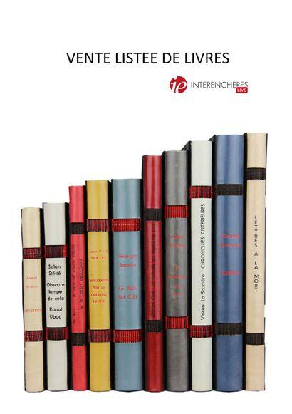 Vente listée de livres
