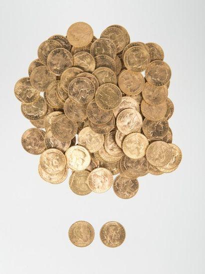 Vente sur désignation de pièces d'or et d'argent