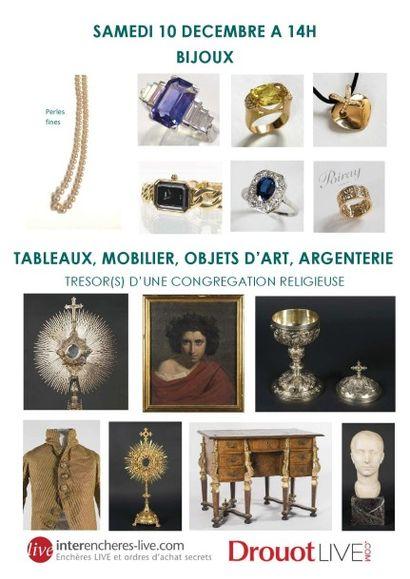 BIJOUX - MOBILIER - OBJETS D'ART - TABLEAUX ANCIENS - ARGENTERIE