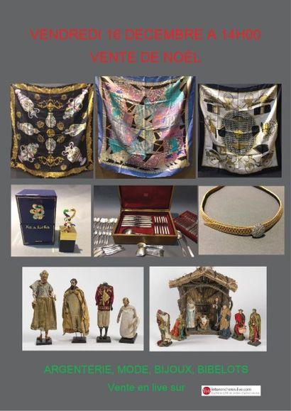 Vente de Noël : argenterie, bijoux, mode, maroquinerie