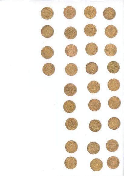 Pièces d'or, billets et vente courante