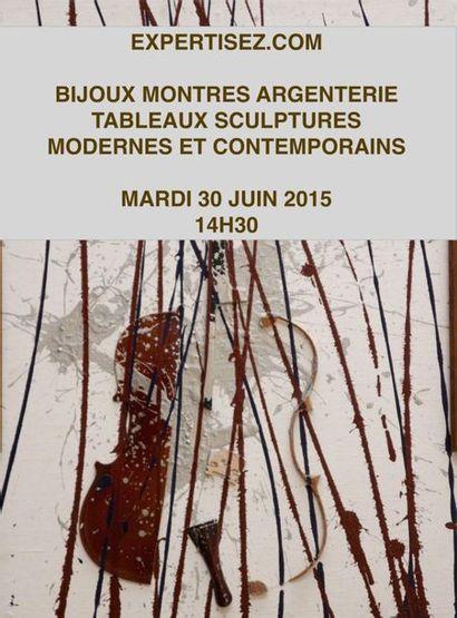 Bijoux, montres, argenterie, Tableaux et sculptures modernes,  tableaux contemporains