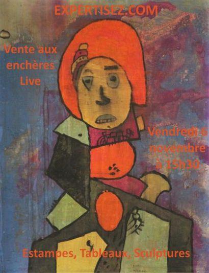 15H30 EXCLUSIVEMENT SUR INTERNET  Lithographies, tableaux, sculptures, modernes et contemporains.