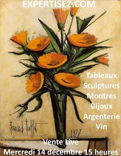Tableaux, sculptures, montres, bijoux, vins
