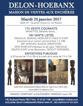 Tableaux, Mobilier & Objets d'Art (Provenant principalement d'un manoir normand) Art Africain, Jouets, Manettes et Bibelots