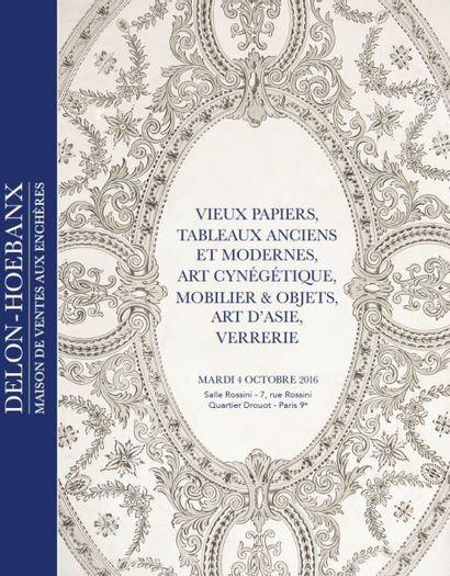 VIEUX PAPIERS, TABLEAUX ANCIENS ET MODERNES,  ART CYNÉGÉTIQUE, MOBILIER & OBJETS D'ART,  ART D'ASIE,  VERRERIE