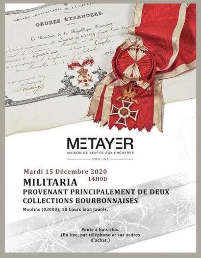 MILITARIA, PROVENANT PRINCIPALEMENT DE DEUX COLLECTIONS BOURBONNAISES
