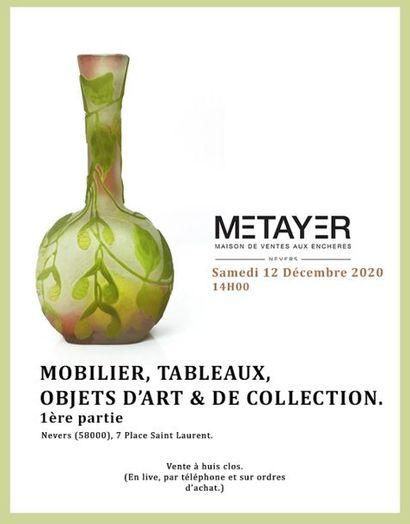 MOBILIER, TABLEAUX, OBJETS D'ART ET DE COLLECTION - Première partie