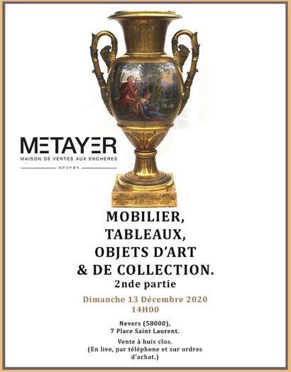 MOBILIER, TABLEAUX, OBJETS D'ART ET DE COLLECTION - Seconde partie