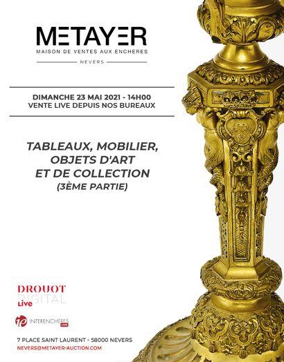 TABLEAUX, MOBILIER, OBJETS D'ART ET DE COLLECTION (3ÈME PARTIE)