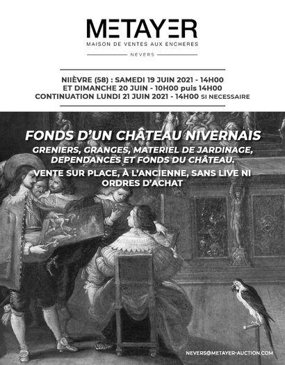 LES FONDS DU CHÂTEAU DE VESVRES, À ROUY (58) : VENTE À L'ANCIENNE SANS LIVE NI ORDRES D'ACHAT