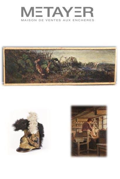 Tableaux nivernais, chasse et art militaire