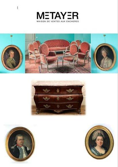 Tableaux, mobilier et objets d'art provenant principalement de deux châteaux nivernais