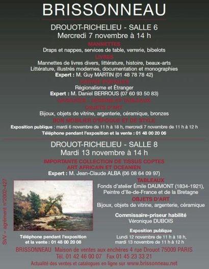 MEUBLES ET OBJETS D'ART - vente à 11h00 et 14h00