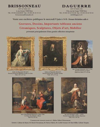 Gravures, Dessins, Importants tableaux anciens, Céramiques, Sculptures, Objets d'art, Mobilier
